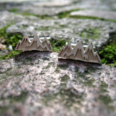 Manschettenknöpfe Berge für den Outdoorsportler im Büro