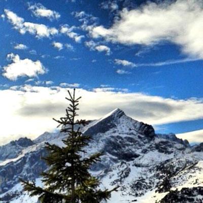 die Alpspitze als Vorlage für unsere Bergekette