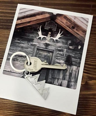 Schlüsselanhänger mit Bergen aus Silber