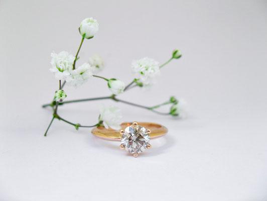 Verlobungsring mit 1 Karat