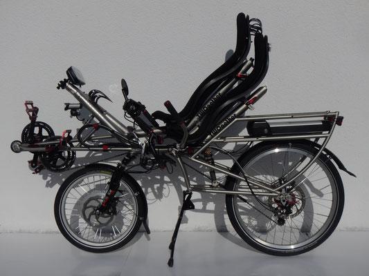 多功能雙人自行車可以用火車運輸。