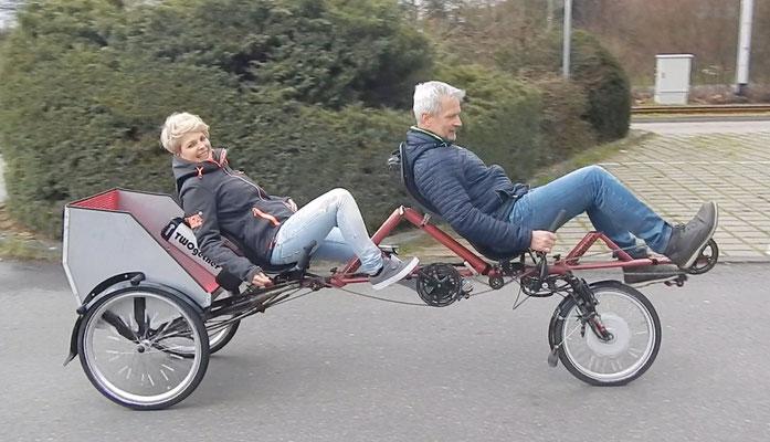 Liegerad Tandem Trike TWOgether 2