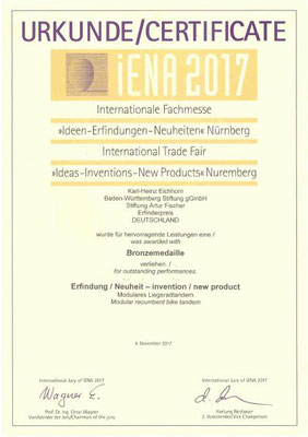 TWOgether Bikes (Karl-Heinz Eichhorn) - Bronze medalist at the Nuremberg Fair iENA 2017
