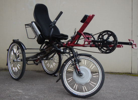 TWOgether Single Trike  with pannier rack (www.twogetherbikes.com)