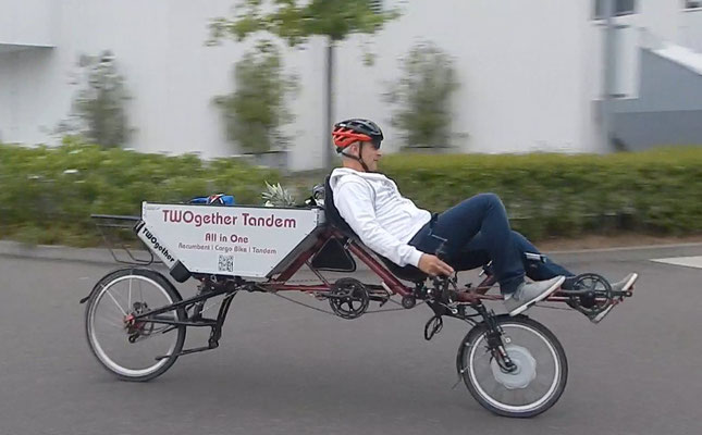 Liegerad Cargobike TWOgether 2