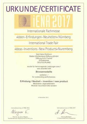 TWOgether Bikes 2 (Karl-Heinz Eichhorn)_Bronze_Erfindermesse iENA2017-Nürnberg