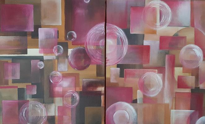 Marron Rose / 80 x 50 cm / Huile / Prix : 200 euros