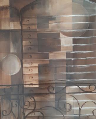 Balcon provençal / 80 x 65 cm, Tableau Primé / Huile / Prix : 800 euros