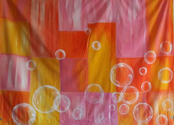 Orangé / 1,90 x 1, 50 cm / Acrylique / Prix : 200 euros