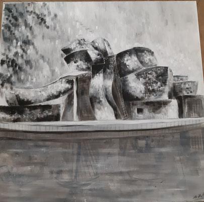 Bilbao II / 60x60 cm / huile / Prix : 1 000 euros