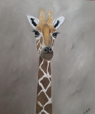 Girafe / 72 x 60 cm / Huile / Prix : 150 euros