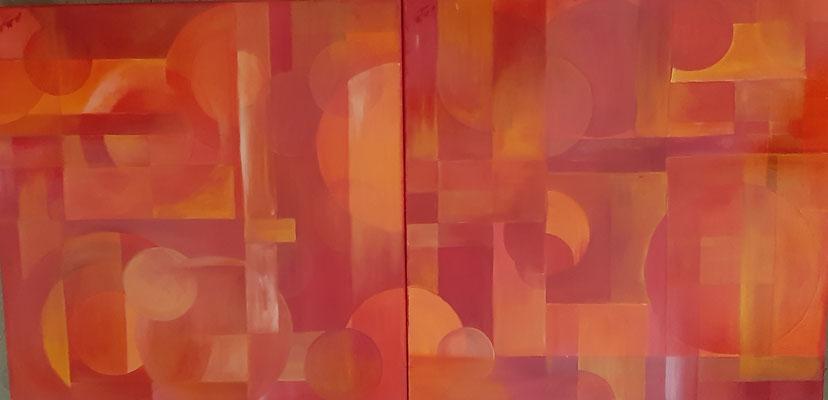 Rouge I et II / 120 cm x 60 cm / Huile / Prix : 500 euros
