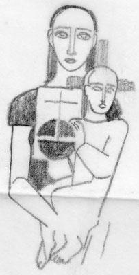 Entwurf Altarbild 1951