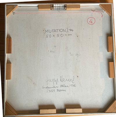 """Signatur auf Rückseite von""""Mutation I"""""""