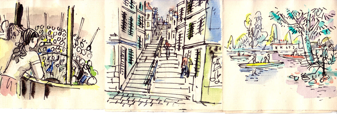 Skizzen Frankreich-Reise 1952