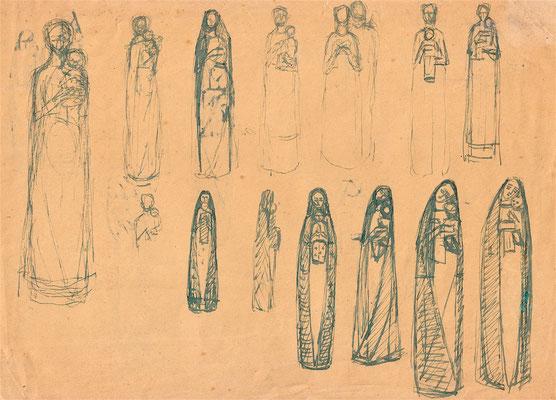 Entwürfe Madonna-Figur ca. 1947