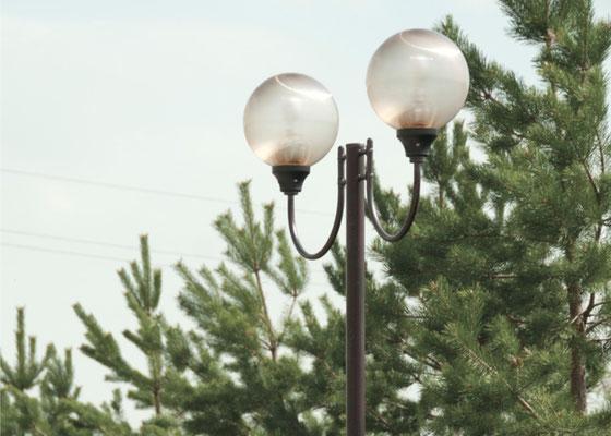 Установка фонарей уличного освещения