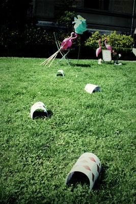 Spezialanfertigung Flamingo-Cricket wie im Wunderland... (Vintage Rental Kollektion)