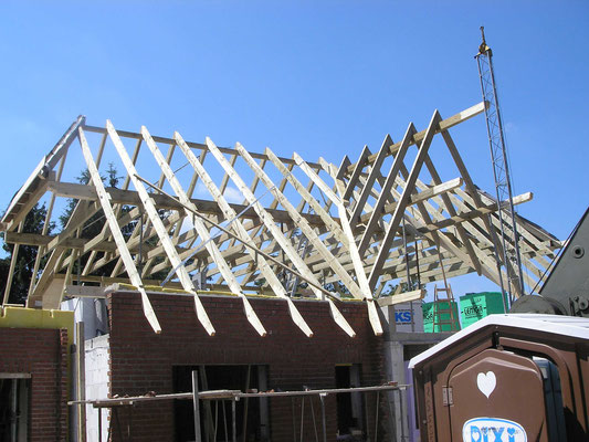 Dachkonstruktion Neubau Zimmerei Thiermann