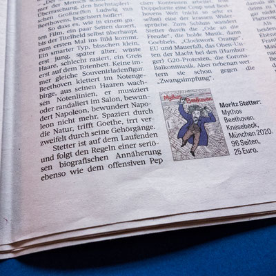 "Moritz Stetter ""Mythos Beethoven"" Graphic Novel, Artikel in der Frankfurter Rundschau"