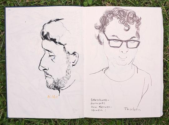 Urban Sketching Tage Görlitz 2017, Kennenlernrunde