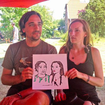 Portraitzeichnen beim Off the Radar Festival