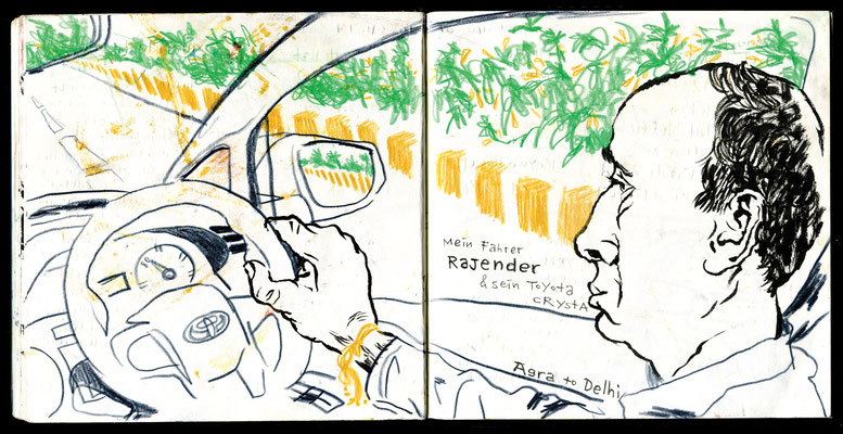Sketchbook New Delhi : My Driver