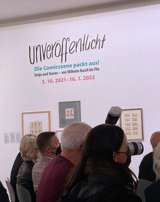 """Ausstellung """"Unveröffentlicht - Die Comicszene packt aus!"""" in der Ludwiggalerie Schloss Oberhausen"""