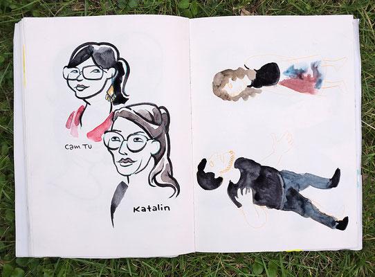 """Urban Sketching Tage Görlitz 2017. Workshop """"Mit cartoonigem Blick"""""""