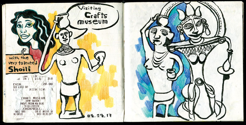 Sketchbook New Delhi : Crafts Museum