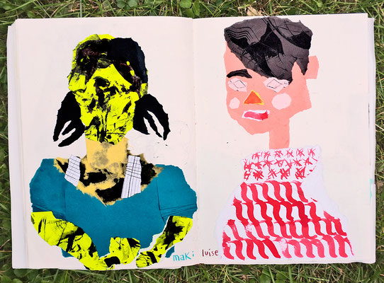 "Urban Sketching Tage Görlitz 2017, Wokshop ""Schnipsel Portraits"""