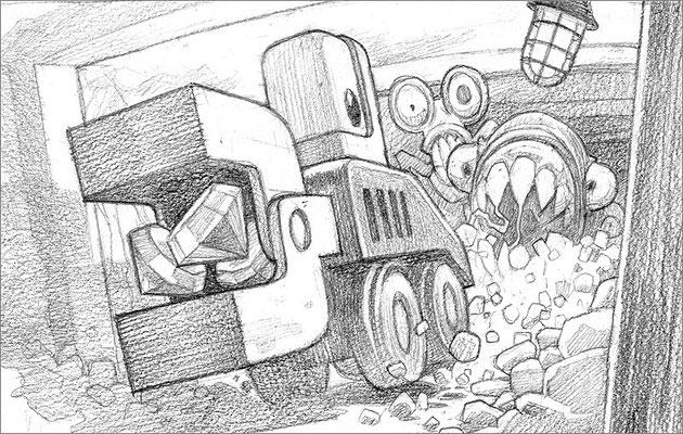 """Эскиз афиши игры """"Digger"""", 2009"""