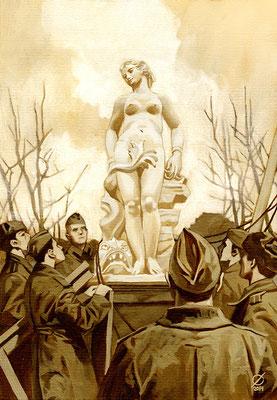 """Андромеда"" (Петродворец - Шахматная гора - 1944), 2014"