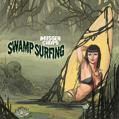 "Эскиз обложки CD ""Messer Chups/Swamp Surfing"", 2007"