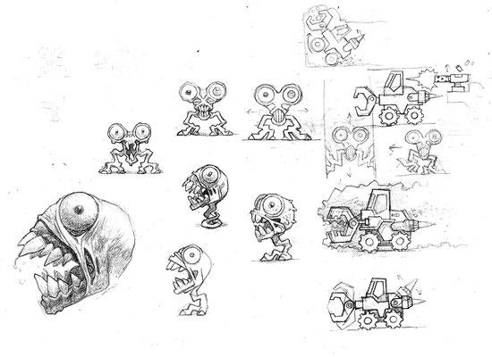 """Скетчи персонажей игры """"Digger"""", 2009"""