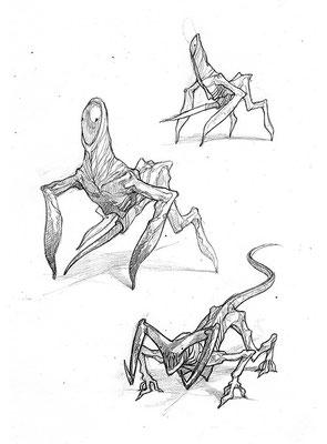 """Скетч персонажей игры """"Death March"""", 2007"""