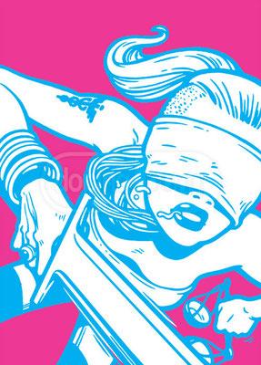 """Фемида"" (обложка журнала ""Смена"", тема номера - ""Правосудие""), 2009"