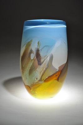 Franz Winkelkotte Landschaftsvase in der CCAA GLASGALERIE KÖLN