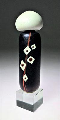 Finn Lynggaard Studioglas glaskunst glassart hotglass