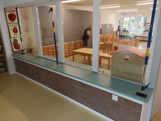 Fenstersims Kindergarten