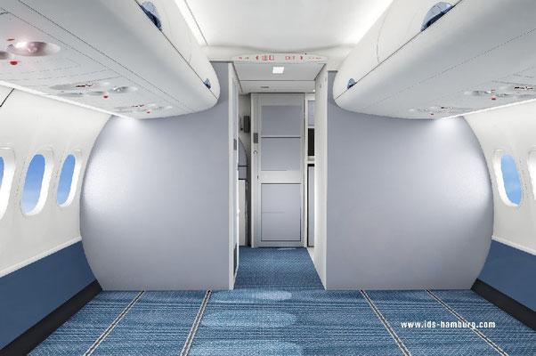Cabin Interior ARJ21 concept industrial design