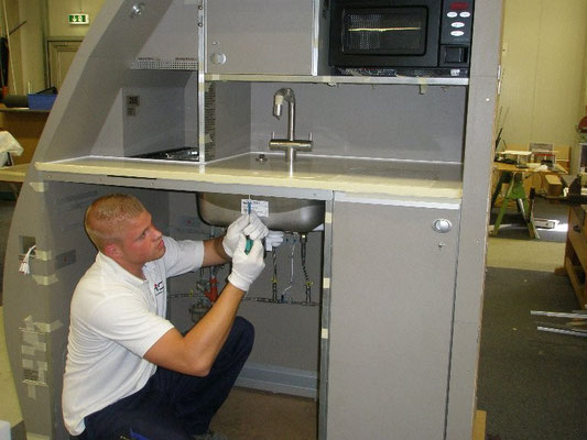 Galley cabin installation