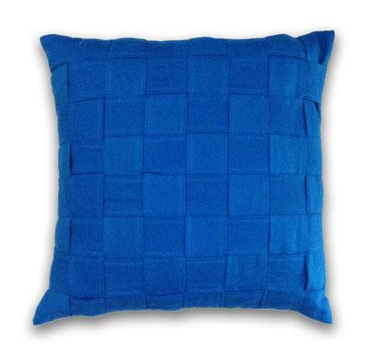 Cojín azul lino