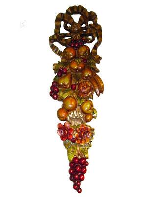 Colgante Frutas tallado en madera