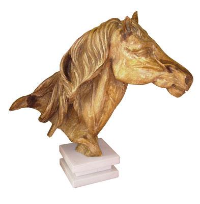Talla madera Cabeza de caballo