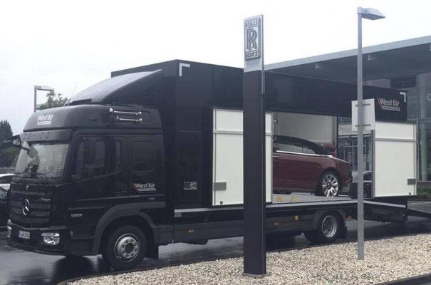 exklusive Fahrzeugtransporte West Air Fahrzeuglogistik Köln