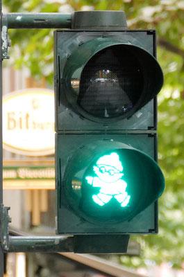 Mainzelmännchenampel in Mainz © mainhattanphoto