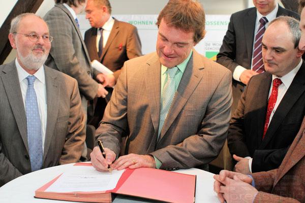 Kooperation der Wohnungsbaugenossenschaften in Frankfurt © dokfoto.de