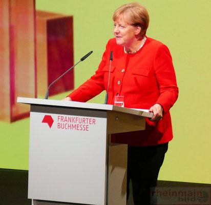 Frankfurter Buchmesse 2017 Eröffnungsfeier Bundeskanzlerin Merkel © mainhattanphoto/Klaus Leitzbach