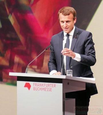Frankfurter Buchmesse 2017 Eröffnungsfeier Staatpräsident Macron © rheinmainbild.de/Klaus Leitzbach